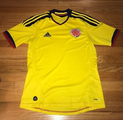 COLOMBIA Mens ADIDAS SOCCER Futbol JERSEY World Cup Size Small Football Columbia