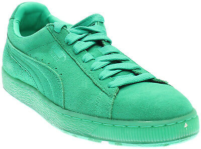 Puma Suede Classic Ice Mix Running Shoes- Green- Mens