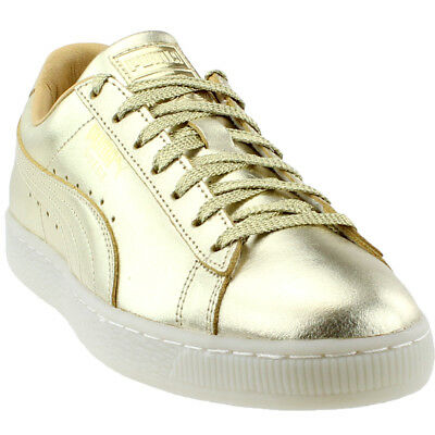 Puma Suede Classic 50th Sneakers- Gold- Mens