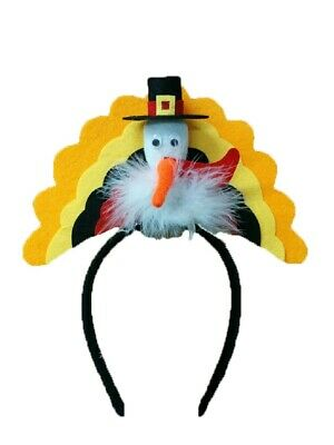 Thanksgiving Pilgrim Turkey Trot Headband Hat Holiday Party Costume Accessory