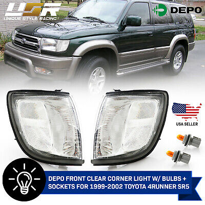 DEPO Front Clear Corner Light - Bulbs - Socket For 1999-2001 Toyota 4Runner SR5