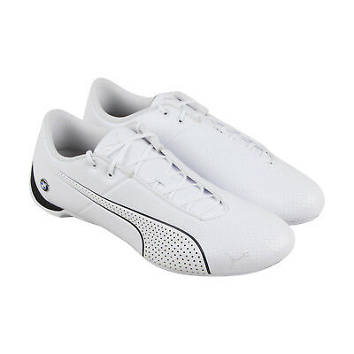 Puma Bmw Mms Future Cat Ultra Mens White Leather Lace Up Sneakers Shoes