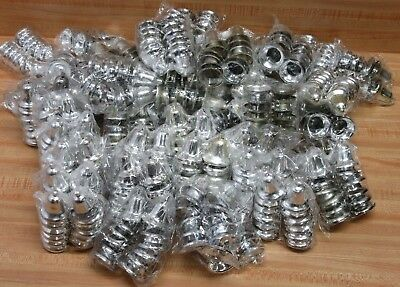 Huge Wholesale Lot of 576 Silver Plastic Bells for Christmas Crafts Decorations