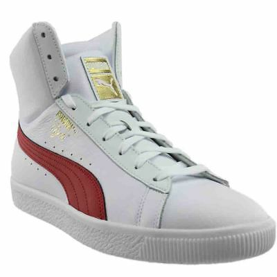Puma Clyde Core Mid Sneakers - White - Mens