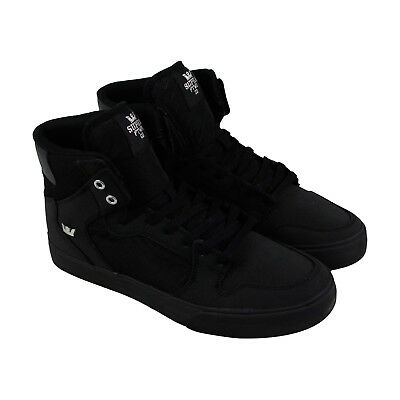 Supra Vaider Mens Black Nubuck High Top Lace Up Sneakers Shoes 10