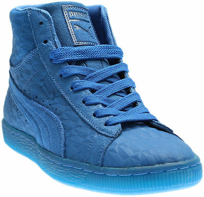 Puma Suede Mid Me Iced Running Shoes - Blue - Mens