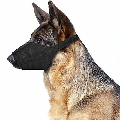 Non-Chafing Breathable - Padded Nylon SafetyTraining Muzzle for Dogs
