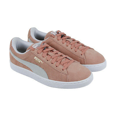 Puma Suede Classic 36534706 Mens Pink Lace Up Low Top Sneakers Shoes