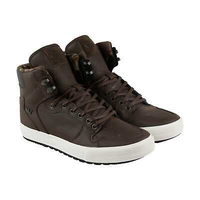 Supra Vaider Cw Mens Brown Leather High Top Lace Up Sneakers Shoes
