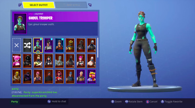 Fortnite Account Stacked Ghoul Trooper Renegade Raider Rare Candy Axe Read Desc