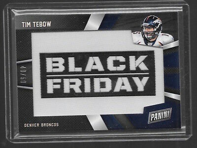 2018 PANINI BLACK FRIDAY TIM TEBOW BLACK FRIDAY PATCH 4050