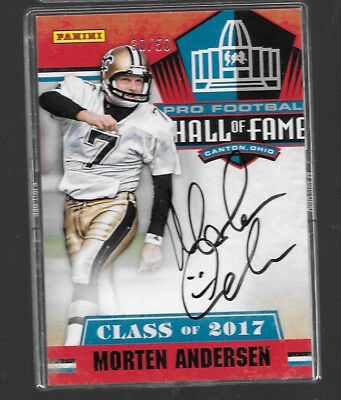 2018 PANINI BLACK FRIDAY MORTEN ANDERSEN HALL OF FAME AUTOGRAPH AUTO