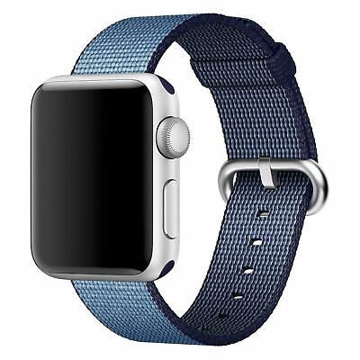NEW Woven Nylon Wrist Band for Apple Watch 38mm NAVYTAHOE BLUE MP222AMA strap