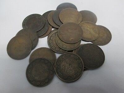 MIXED LOT OF 25 CANADIAN LARGE ONE CENT COINS