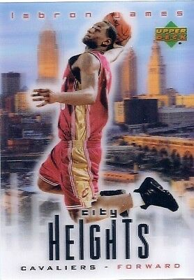 LeBRON JAMES 2003-04 Upper Deck CITY HEIGHTS Rookie RC CAVALIERS Free Shipping