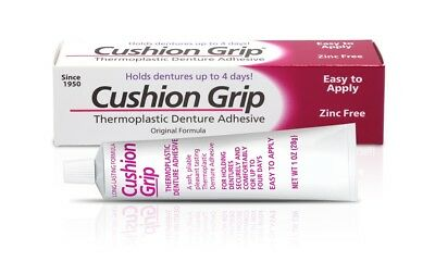 Cushion Grip - Soft Pliable Thermoplastic to Refit Dentures 1 Oz 28 grams