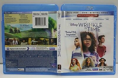 A Wrinkle in Time Blu-RayDVD 2018 FREE Ship Oprah Winfrey Witherspoon Kaling