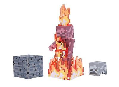 Minecraft Series 1 Core Action Figure Pack - Skeleton On Fire