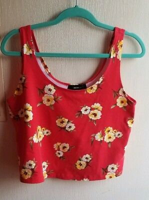 Forever 21 plus size floral crop top size 0X