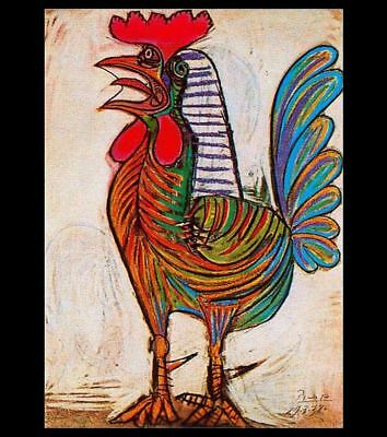 The Rooster by Pablo Picasso PHOTO Art Print of his 1938 work GORGEOUS