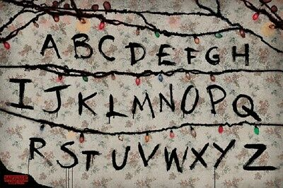 Stranger Things Alphabet Wall RUN Poster Size 24x36