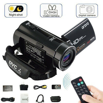FULL HD 1080P 24MP 3LCD 16X ZOOM Night Vision Digital Video DV Camera Camcorder