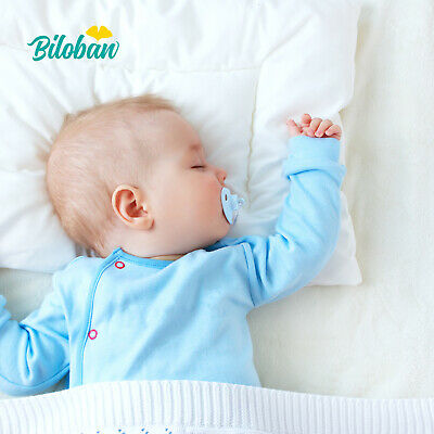 Baby Newborn Pillow with Cotton Pillowcase Suitable for Infant Toddler 14x19