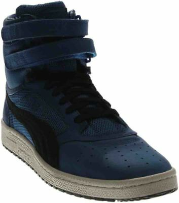 Puma Sky II High Color Blocked Leather Sneakers - Blue - Mens
