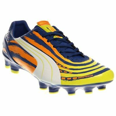 Puma EvoSPEED 2-2 Graphic Firm Ground Cleats Soccer Cleats Yellow - Mens - Size