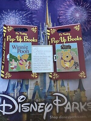 Disney World Parks Pop-Up Books Winnie The Pooh Pin LE In Hand