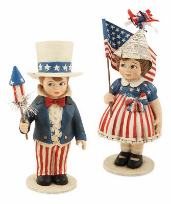 Bethany Lowe Sammy and Betsy Patriotic Americana Fourth of July Flag Decorations