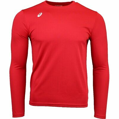 ASICS Circuit 8 Long Sleeve Tee  - Red - Mens
