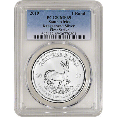 2019 South Africa Silver Krugerrand 1 oz 1 Rand - PCGS MS69 First Strike