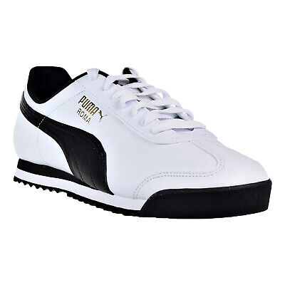 Puma Roma White Faux Leather Black Casual Mens Shoes Sneakers Most Size 8-13