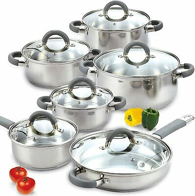 Cookware Set 8 Pieces Stainless Steel with Copper Cooking Pots and Pans Kitchen