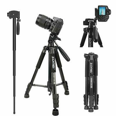 Zomei Red Pro Aluminium Q111 Tripod Heavy Duty w Pan Head For DSLR Camera Video