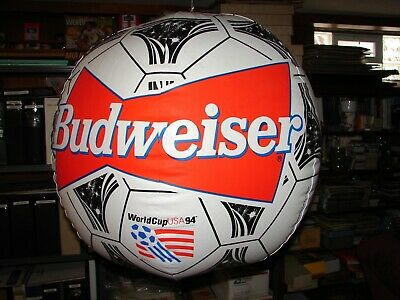 1994 World Cup Giant Blow-up Soccer Ball promo - Budweiser Beer - 24 inch dia-
