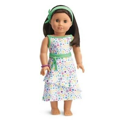 American Girl Doll Clothes SPRING DRESS HEADBAND BRACELET Store Exclusive NEW