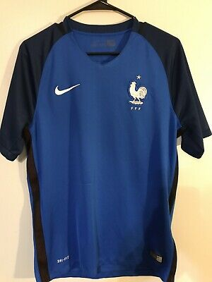 France Soccer Jersey Nike Authentic 2016 World Cup Champs Size M FREE SHIPPING