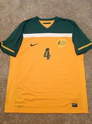 AUSTRALIA 2010 WORLD CUP TIM CAHILL 4 JERSEY SOCCEROOS XL - EXCELLENT