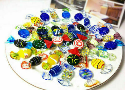 20pcs Vintage Murano Glass Sweets Set Wedding Xmas Party Candy Decorations Gift