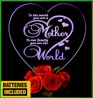LED Light Mothers Day Gifts For Mom My Heart Love Xmas Birthday Mothers Day ❤️