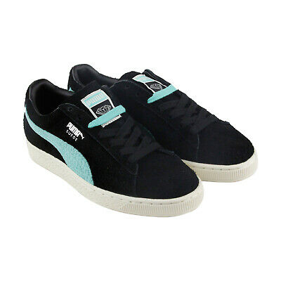 Puma X Diamond Suede Mens Black Suede Low Top Lace Up Sneakers Shoes