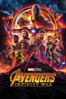 Avengers Infinity War Movie Poster US Version Size 24x36