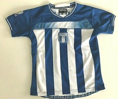 2010 WORLD CUP Soccer Shirt HONDURAS Sports SOUTH AFRICA size 14 FIFA Small SM S