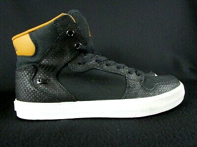 Supra Vaider High Black Cathay Spice-White Mens Sneakers Shoes Sz 9-5 S28286