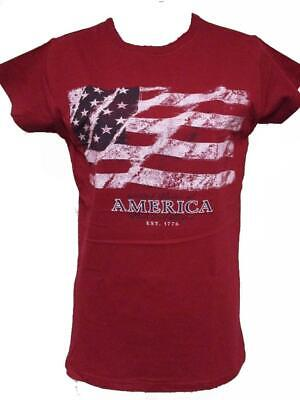 NEW Patriotic USA  4th of July 1776 Womens Sizes S-M-2XL Red Shirt