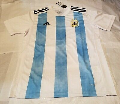 Argentina Soccer Home Jersey  Mens Size L  Made in Argentina World Cup  2018