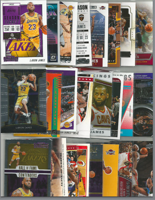 25 DIFFERENT LEBRON JAMES BASKETBALL CARD LOT CLEVELAND CAVALIERS LAKERS