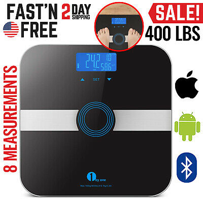 Smart Bathroom Scales Weight Scale Body Fat Bones BMI Digital iOS Android App